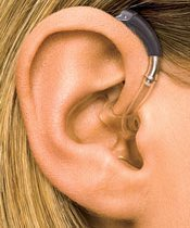 Picture of over the ear (OTE) hearing aid