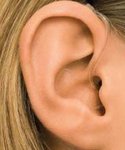 Picture of behind the ear (BTE) hearing aids