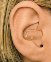 Picture of in the ear (ITE) hearing aid