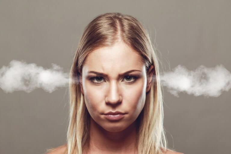Woman with tinnitus