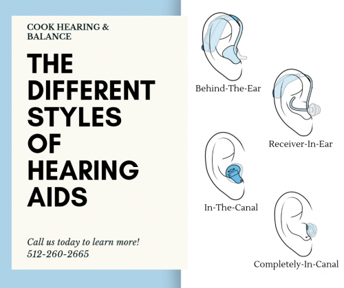 The different types of hearing aid styles