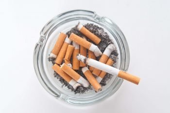 Bowl of cigarettes