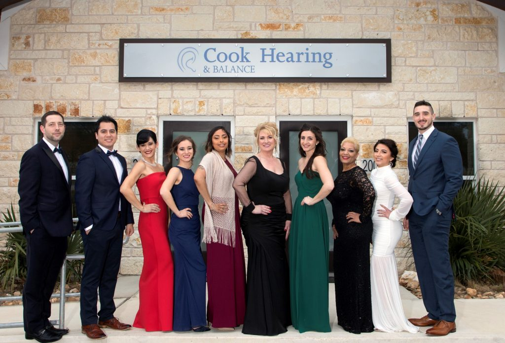 Our staff in front of our hearing aid office in Cedar Park, TX
