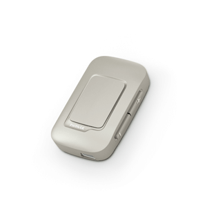 beige colored Phonak ComPilot Air II hearing aid accessory