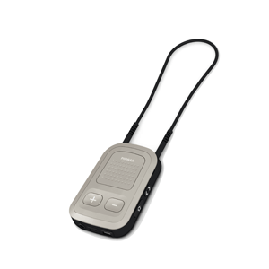 beige Phonak ComPilot II hearing aid accessory