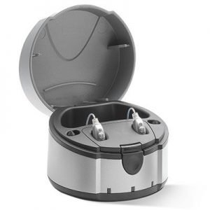 Signia eCharger charging station hearing aid accessory