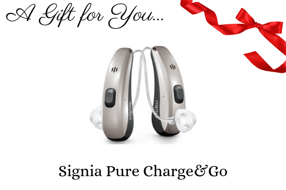 signia pure charge & go hearing aid gift certificate