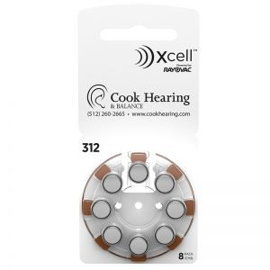 Hearing Aid Batteries - Size 312 - Pack of 8