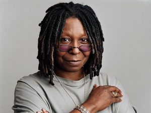 Whoopi Goldberg who suffers from hearing loss
